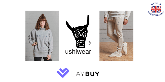 ushiwear, british made womens and mens clothing pay with laybuy uk payment option,