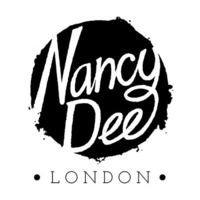 ethical womens clothing by nancy dee london black and white text logo