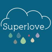 superlove logo, childrens clothing made in uk