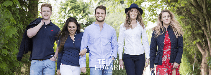 Teddy Edward clothing, luxury british clothing, Group, clothing collection, made in great britain, best british menswear brands