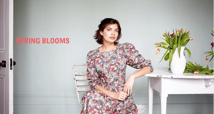Justine Tabak, Spring Blooms, print dress, Best British womenswear brands,
