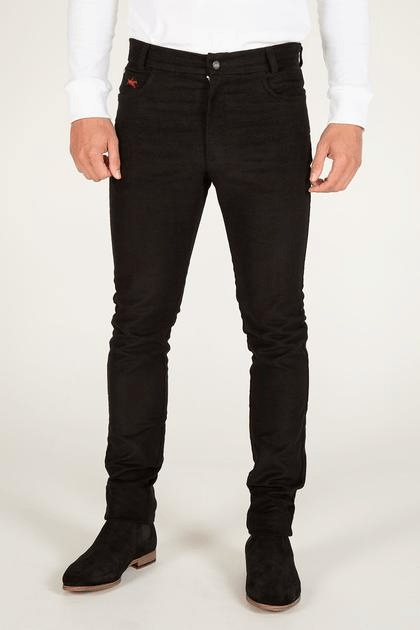 moleskin jeans for men, luxury clothing brand, teddy edward moleskin jeans, black