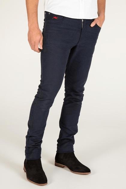 moleskin jeans for men, luxury brand clothing, teddy edward navy moleskin jeans