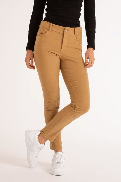 moleskin jeans, tan brown molsking jeans for women, made in britain