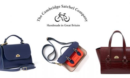 selection of cambritsge satchel company bags and handbags and tote bags handmade in great britain, british handbag brands, british handbag designers