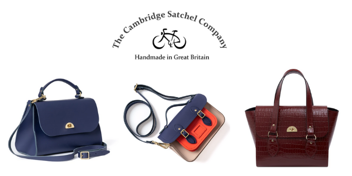 selection of cambritsge satchel company bags and handbags and tote bags handmade in great britain, british handbag brands, british handbag designers