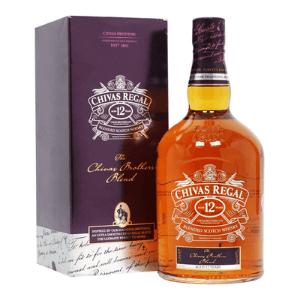 chivas regal bottle of scotch whisky with presentation box, best british luxury brands