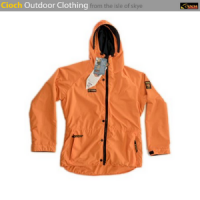 orange cioch outdoor jacket made on the isle of skye