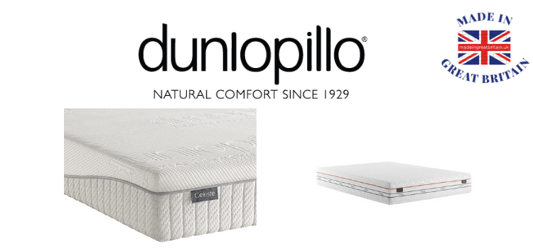 dunlopillo ethical and natural mattress made in uk