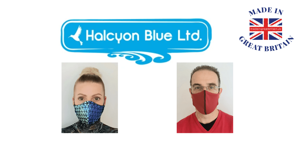 halcyon blue, reuasble face masks, uk face masks
