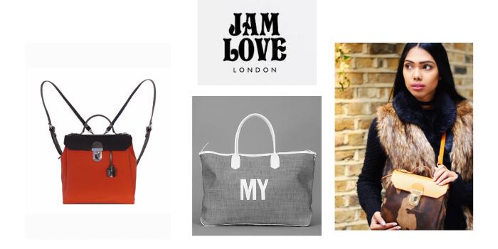 jam love london backpacks and handbags, best british handbag brands