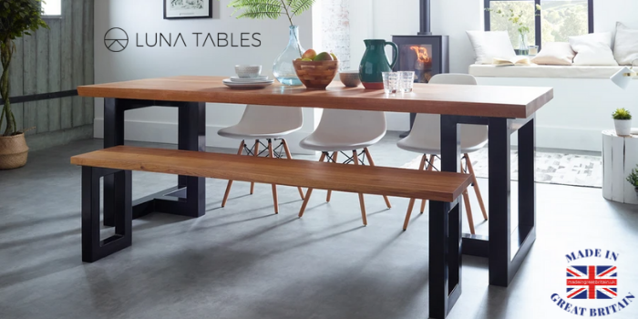 luna tables, bespoke british designed tables and benches made in uk furniture