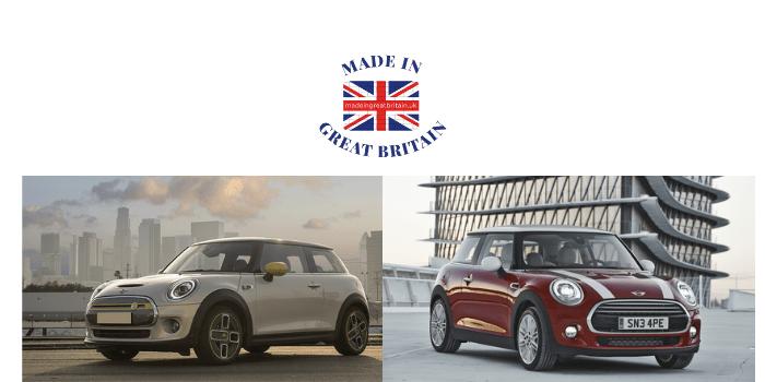 british cars, mini cooper hatchback, mini electric, made in britain, british car manufacturers