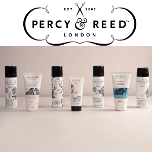 percy and reed haircare collection of shampoo conditioner bottles made in uk