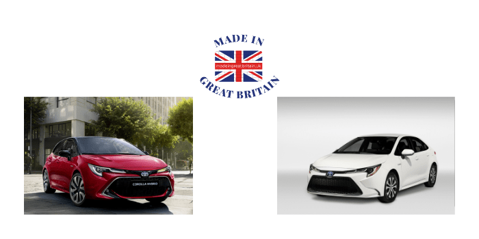 toyota corolla hybrid 2020, made in britain, british car manufacturers