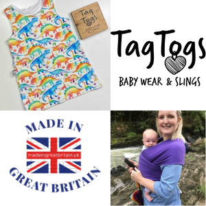tag togs babywearing slings and cotton wraps made in uk, british baby and toddler clothes