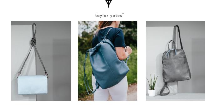 taylor yates handmade shoulder bags made in the uk, uk handbag brands